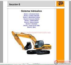 jcb excavator js330 hydraulic system manual es auto repair