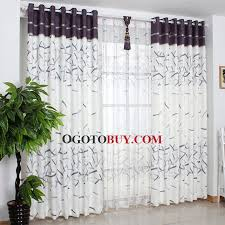 classic stripe curtains panels in gray and white color wholesale