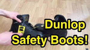 dunlop dakota safety work boots closer look youtube