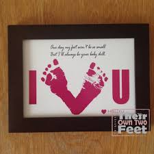 dad card ideas baby footprints card for new dad or mom gift from baby