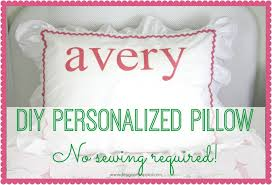 Homemade Europe Diy Design Genius Diy Monogram Pillow Tutorial No Sewing Required Designer