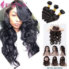 body wave vs loose wave hair extension 2018 360 lace frontal pre plucked loose wave with closure body