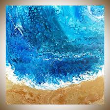 blue and white painting abstract painting original artwork large wall art colourful