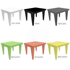Plastic Outdoor Side Table Bubble Club Table Kartell