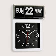 Unique Desk Clocks Fartech Auto Calendar Wall Desk Flip Clocks With Unique Design