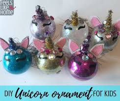 unicorn ornament diy tree ornament craft for