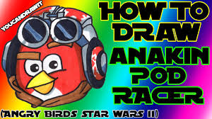 how to draw anakin skywalker podracer bird from angry birds star