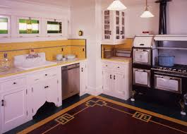 arts and crafts bungalow kitchen custom inlay by laurie crogan