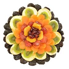 fruit gift broadway basketeers heart healthy floral dried fruit