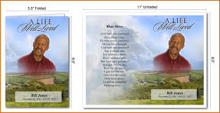 Funeral Program Sample 6 Funeral Program Templates Authorizationletters Org