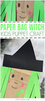 paper bag witch craft for kids crafts on sea