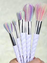 light purple 5 pcs unicorn makeup brushes set rosegal com mobile