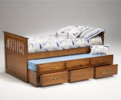 furniture brown wooden trundle bed with drawer on large blue rug  with  white wooden trundle bed  from primedecorsnet