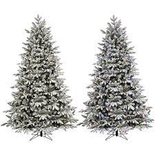 shop ge 7 5 ft pre lit alaskan fir flocked artificial