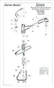 American Standard Cadet Kitchen Faucet American Standard Kitchen Faucet Parts Diagram Delta Faucets Parts