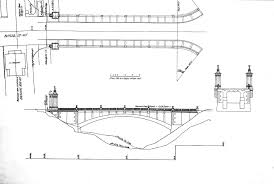 architectural plan modern architectural drawings of bridges with architectural