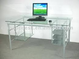 computer desk glass metal glass and metal computer desk black free shipping onsingularity com