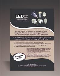 Switching To Led Light Bulbs by Elegant Playful Flyer Design For Michael Leonard By Planetlab