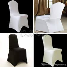 cheap wedding chair covers hot sale ivory black white spandex stretch chair cover lycra for