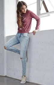Light Wash Ripped Skinny Jeans Pacsun Bullhead Denim Co Coral Reef Ripped Mid Rise Skinny