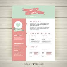 pretty resume templates pretty resume templates resume template free vector creative