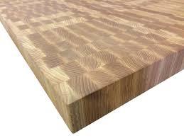 Red Oak Table by End Grain Red Oak Butcher Block Countertop