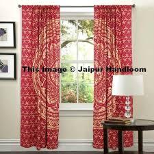 Hanging Panel Curtains Golden Mandala Living Room Window Curtains Indian 2 Panel Door Drapes