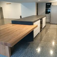 concrete nation polished concrete benchtops kitchen