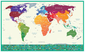 Large World Map Poster by Scratch Off World Map World Travel Tracker Map Large Size Poster
