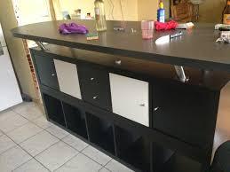 plan travail cuisine ikea table de bar avec kallax bidouilles ikea plan travail cuisine with