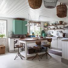 Shabby Chic Kitchens by Kitchen Shabby Chic Decor For Kitchen With Industrial Stools