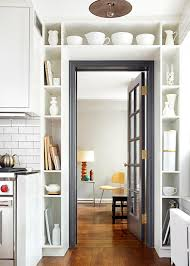 Kitchen Open Shelving Ideas Cabinets U0026 Drawer Door Open Shelving And White Kitchen Wares Also
