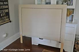 our vintage home love upholstered headboard tutorial