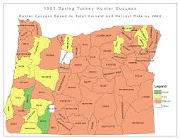 Map Of Eastern Oregon by 2016 Spring Turkey Hunting Forecast Male Turkey Displays Rival The