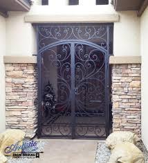 Interior Gates Home Wrought Iron Security Gate Front Door Nucleus Home Doors Tucson