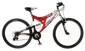Mongoose Comfort Bikes Mongoose Maxim Dual Suspension Mountain Bike 26 Inch Wheels Red