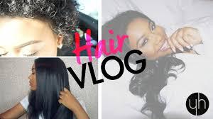 short hair update u0026 natural looking sew in vlog y hair youtube