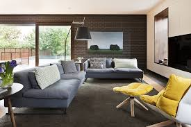 Gray Sofa Living Room by Awesome 90 Yellow And Black Living Room Decorating Ideas Design