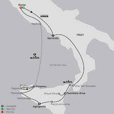 Sicily Italy Map by Sicily Tour Cosmos Affordable Travel Packages