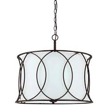Drum Light Fixture by Drum Chandeliers Hanging Lights The Home Depot