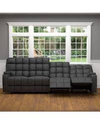 Four Seater Recliner Sofa New Savings On Oliver Saskia Grey Microfiber 4 Seat