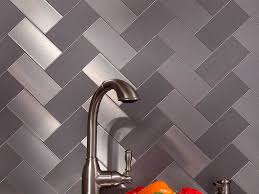 Stainless Steel Kitchen Backsplashes Kitchen 80 Stainless Steel Kitchen Backsplash Ideas Herringbone