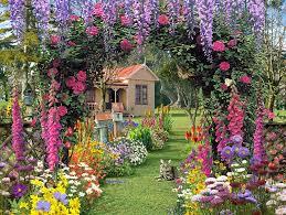Pretty Garden Ideas Lawn Garden Pretty Garden Design With Purple Hanging Flower