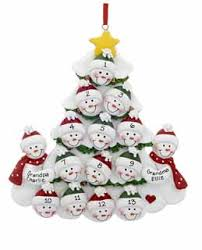 2 snowmen grandparents tree with 13 grandchildren personalized or