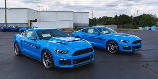 blue mustang roush ford mustang models in grabber blue ford authority