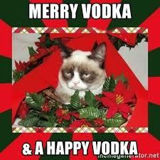 Merry Christmas Meme Generator - merry vodka a happy vodka grumpy cat on christmas meme generator