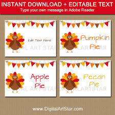 thanksgiving food labels thanksgiving place cards digital