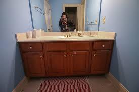 Repainting Bathroom Cabinets Inspiring Refinishing Bathroom Vanity U2013 Interiorvues