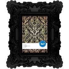 Baroque Home Decor Mainstays 5x7 Chunky Baroque Picture Frame Black Walmart Com