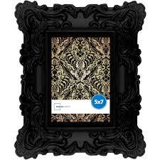 mainstays 5x7 chunky baroque picture frame black walmart com